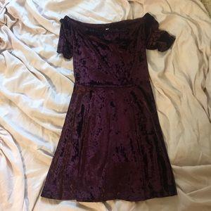 satin maroon dress!